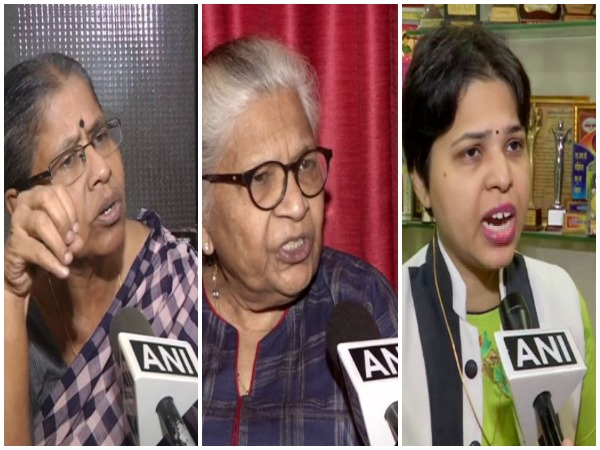 From (L to R) Sudha Ramalingam, Kamini Jaiswal and Trupti Desai [File Photo/ANI]