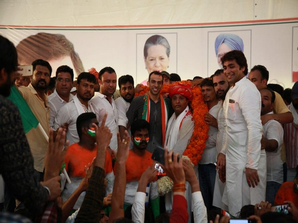 Srinivas BV took oath as national president of Indian Youth Congress on Wednesday.