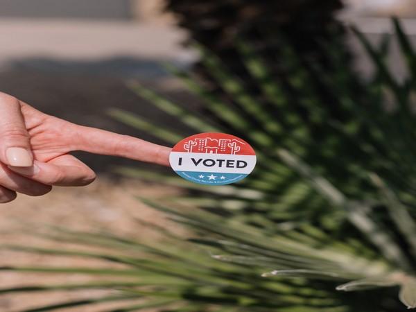 'I VOTED' sticker (Image courtesy: Twitter)