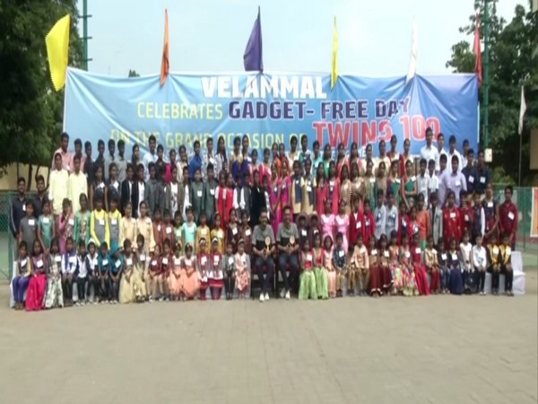 TN: Hundreds of identical twins celebrate gadget-free day in Chennai School - ANI News