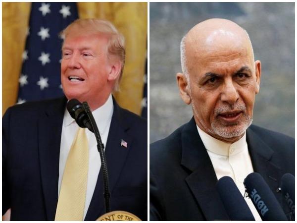 US President Donald Trump and his his Afghan counterpart Ashraf Ghani