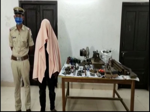 A photo of the accused arrested from the factory in Odisha. (Photo/ANI)