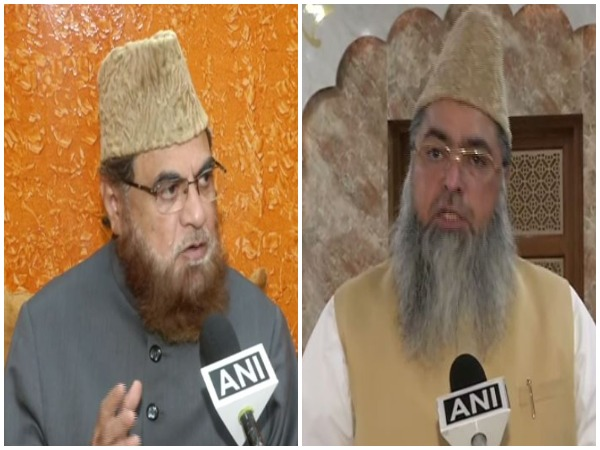 Mufti Mukarram and Umer Ahmed Ilyasi speaking to ANI on Friday. Photo/ANI
