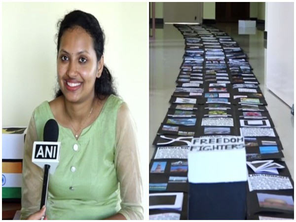 Apeksha Kottary has entered the India Book of Records for making the longest gift item, an opening explosion box. (Photo/ANI)