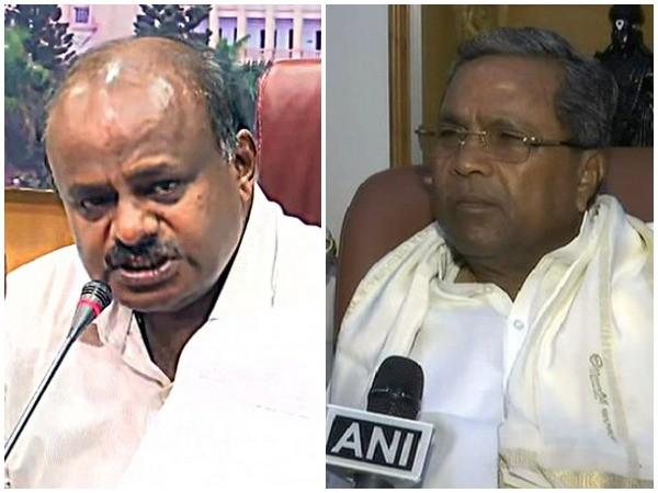 HD Kumaraswamy and Siddaramaiah (File Photos)