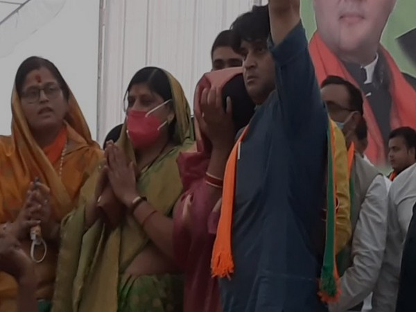 A visual from the rally when Imarti Devi got emeotional on Tuesday.
