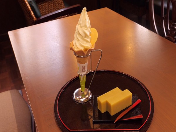 Imo-Yokan soft ice cream