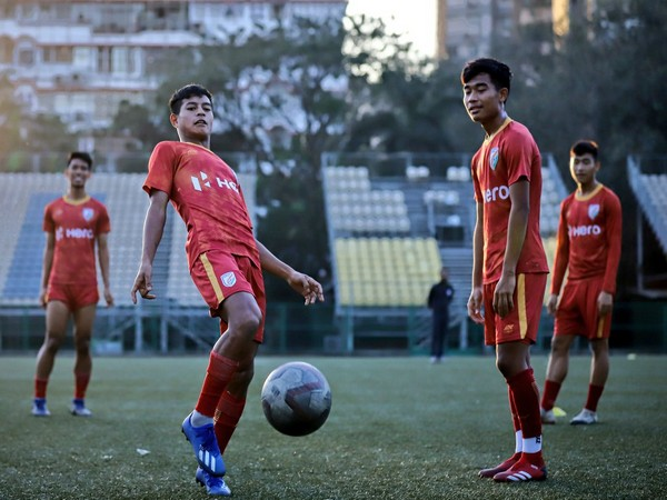 Indian Arrows players while practicing. (Photo/Indian Football Team Twitter)