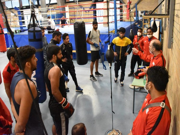 Indian men boxers training at Olympic Centre in Assisi, Italy