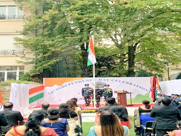 Embassy of India, Paris celebrated 74th Independance Day (Photo tweeted by Indian Embassy, Paris)