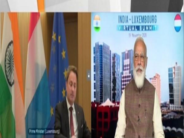 Luxembourg Prime Minister Xavier Bettel and Prime Minister Narendra Modi