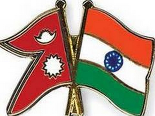 Nepal and India flags