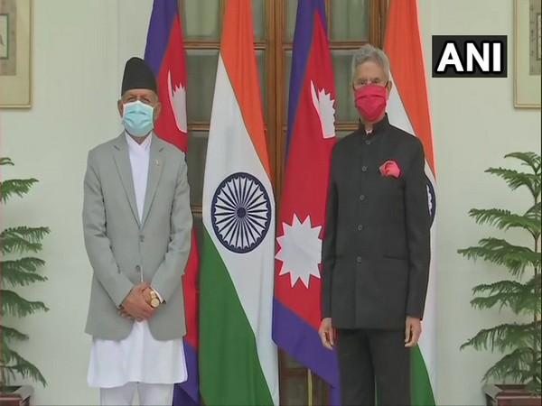 Nepal Foreign Minister Pradeep Kumar Gyawali met External Affairs Minister S Jaishankar at Hyderabad House in New Delhi. (ANI)