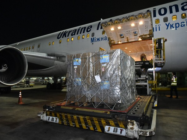 India thanks Ukraine for first shipment of 184 oxygen concentrators (Photo Credit: Twitter/ Arindam Bagchi)