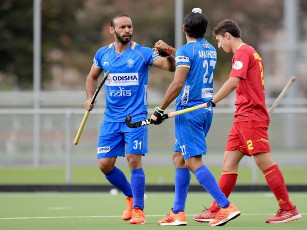 India trounce Spain by 5-1 during their third match of the Tour of Belgium on Sunday. (Photo/ Hockey India Twitter)