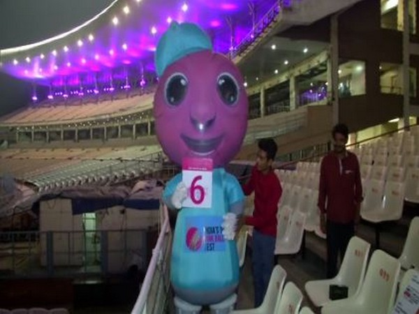 Eden Gardens being decorated with pink lights for India's first ever day-night Test