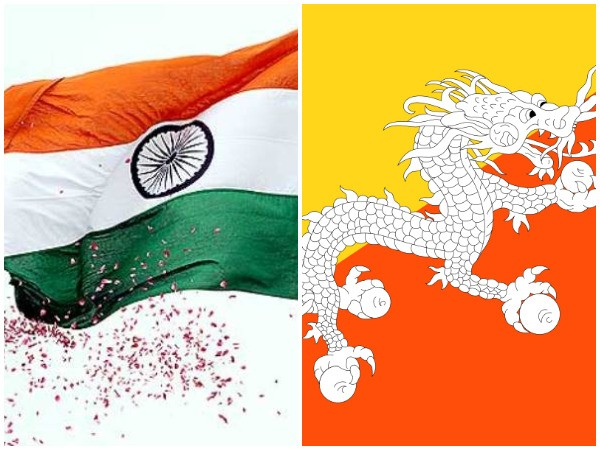 India and Bhutan flags