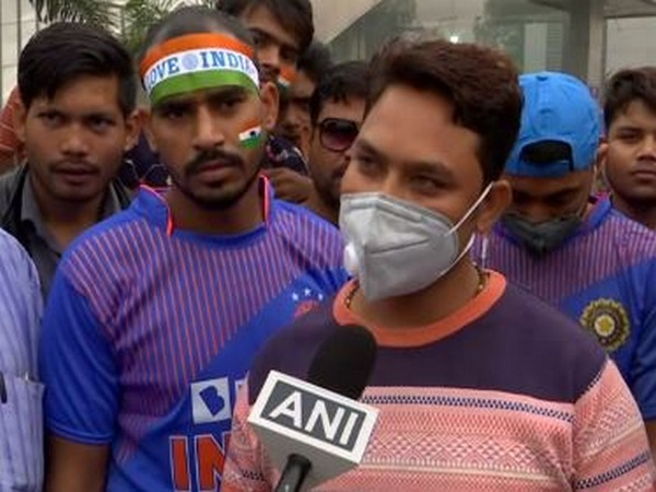 A fan talking to ANI ahead of clash between India and Bangladesh in New Delhi on Sunday.