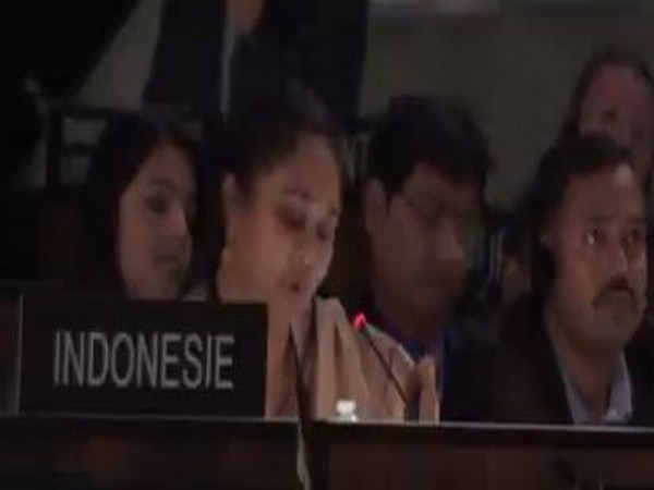 Ananya Agarwal addressing the UNESCO General Conference in Paris