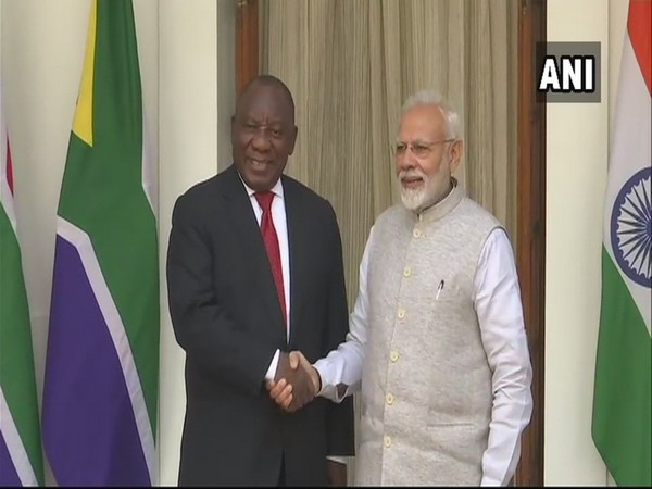 Prime Minister Narendra Modi with Cyril Ramphosa (File Photo)