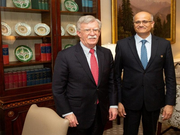 US National Security Advisor John Bolton (left) and Foreign Secretary Vijay Gokhale (ANI photo)