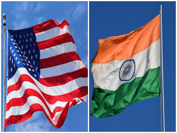 Flags of the United States of America (Left) and India (Right)