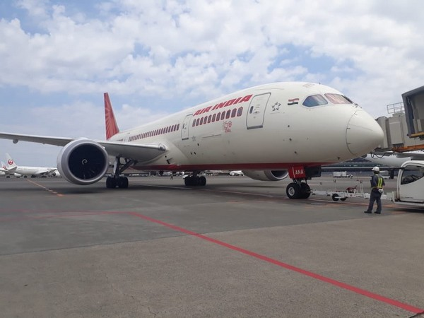 AirIndia repatriation flight AI1305 during take off from Tokyo. (Photo credit: official twitter)
