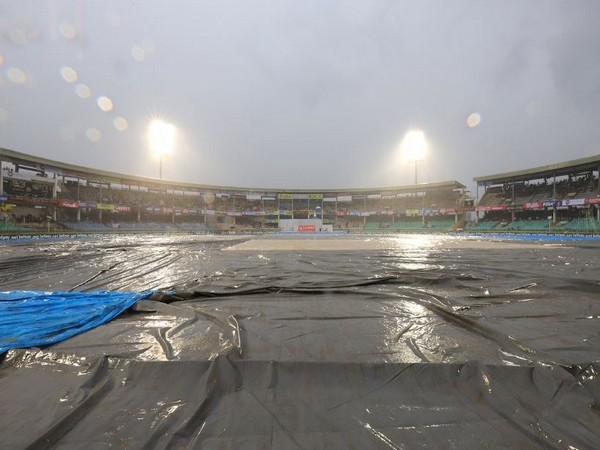 Rain interrupted the match between India and South Africa in Vishakhapatnam on Wednesday. (Photo/ BCCI Twitter)