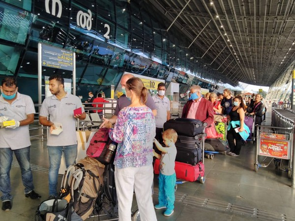 232 tourists from European Union nations departed for Frankfurt last week