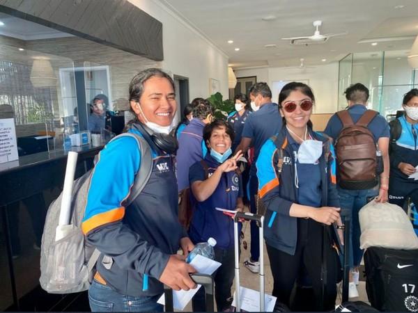 Indian women's cricket arrive in Mackay (Image: BCCI Women twitter)