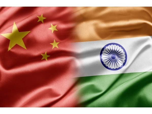 China-India Flags