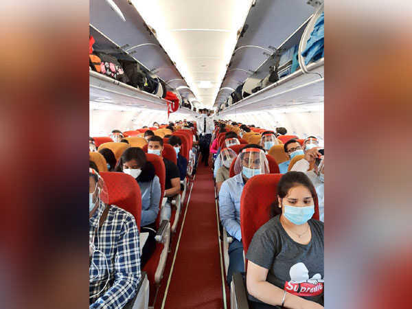 Indians in the special Air India flight. (Photo credit: official twitter)