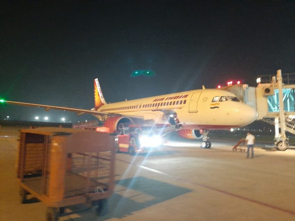 Air India flight at Chandigarh International Airport. Photo/ANI
