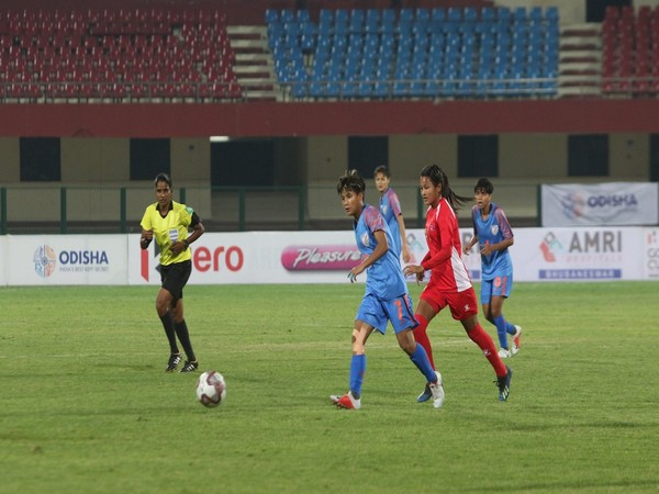Indian women's football team in action (Image courtesy Indian Football Team Twitter)