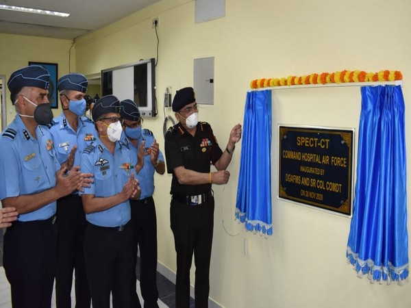 Lt General Anup Banerji inaugurates a SPECT-CT (Single-Photon Emission Computerized Tomography) machine (Photo ANI)