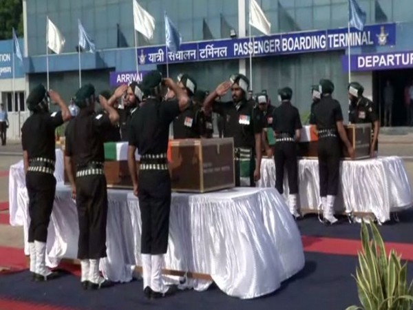 Army Officials paid their last respects to the two soldiers in New Delhi on Monday. Photo/ANI