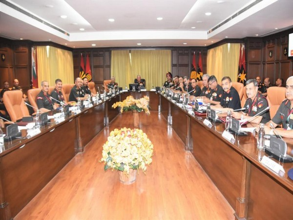 Indian Army officials during the conference in New Delhi on Tuesday.