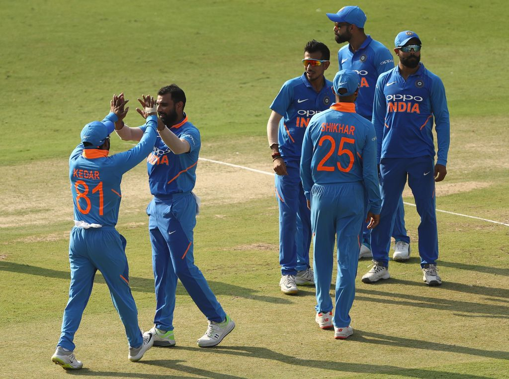 Indian team during first ODI against South Africa in Hyderabad on Saturday (Image source BCCI Twitter)
