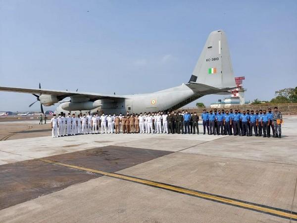 Indian Navy deploys a medical team for the Dhanvantari COVID care hospital in Gujarat.