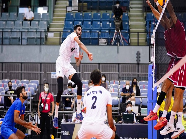 India lose to Bahrain (Image Asian volleyball confederation)