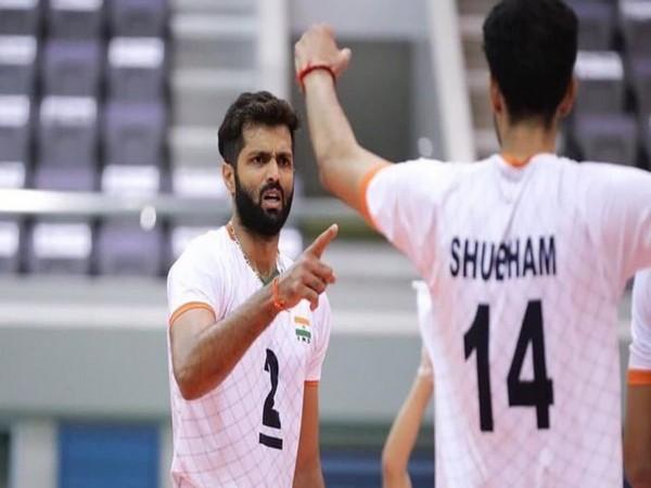 India beat Uzbekistan (Image Asian volleyball confederation)