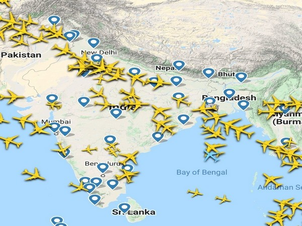 A view of Indian airspace on March 25.
