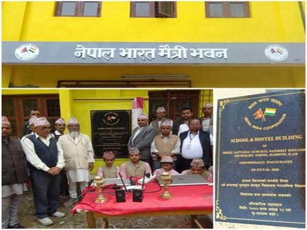 The Shree Saptmai Gurukul Sanskrit Vidhyalaya being inaugurated. (Photo credit: Indian Embassy in Nepal twitter)