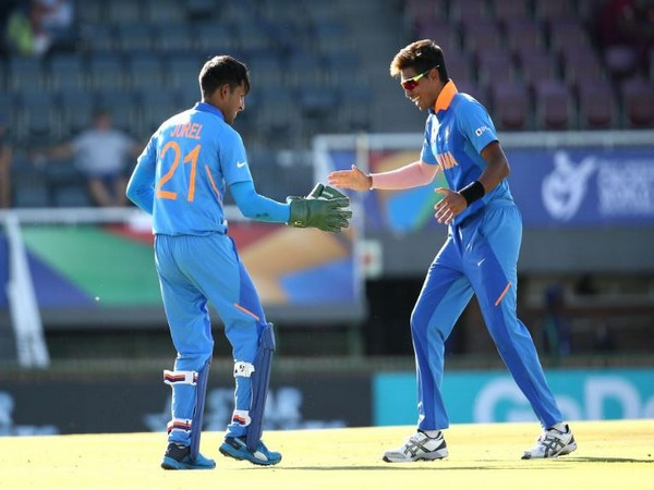 With this victory, India secured their semi-final spot in the tournament. (Photo/ Cricket World Cup Twitter)