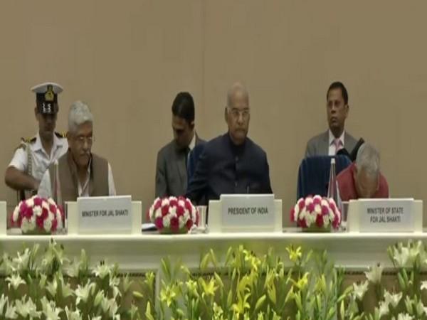 President Ram Nath Kovind at India Water Week-2019 (Photo/ANI)