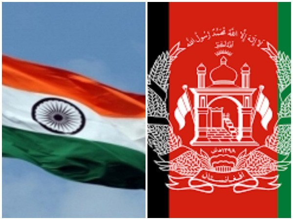 India and Afghanistan flags