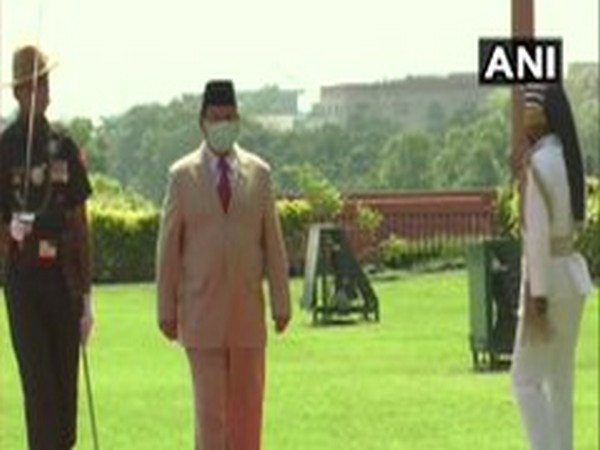 Indonesian Defence Minister Prabowo Subianto inspecting the Guard of Honour at Delhi's South Block lawns on Monday.