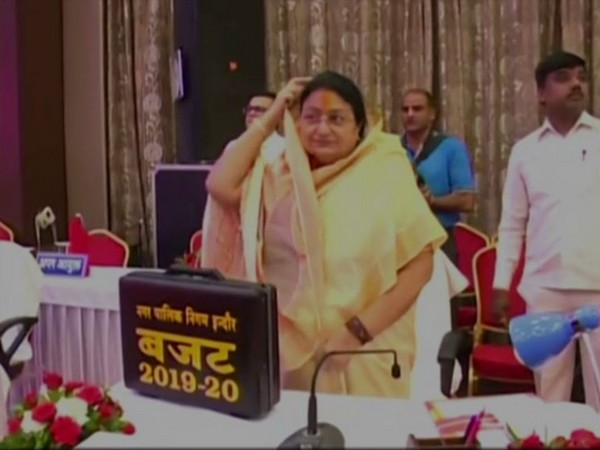 Mayor Malini Gaur at the municipal budget session in Indore on Wednesday. (Photo/ANI)