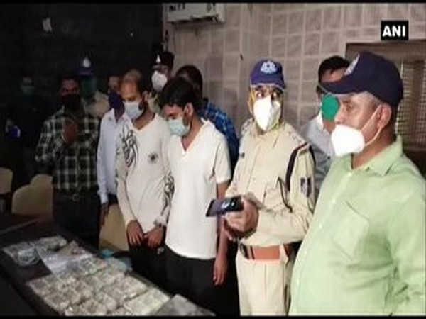 Police arrested two persons for breaking into an ATM and stealing cash worth Rs 12 lakhs on Sunday. (Photo/ANI)