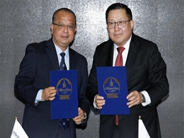 Bank of Mongolia's Governor Bayartsaikhan Nadmid with Head of Intellect for Asia Pacific Indranil Chaudhury exchanging the MoU in Chennai on Monday.